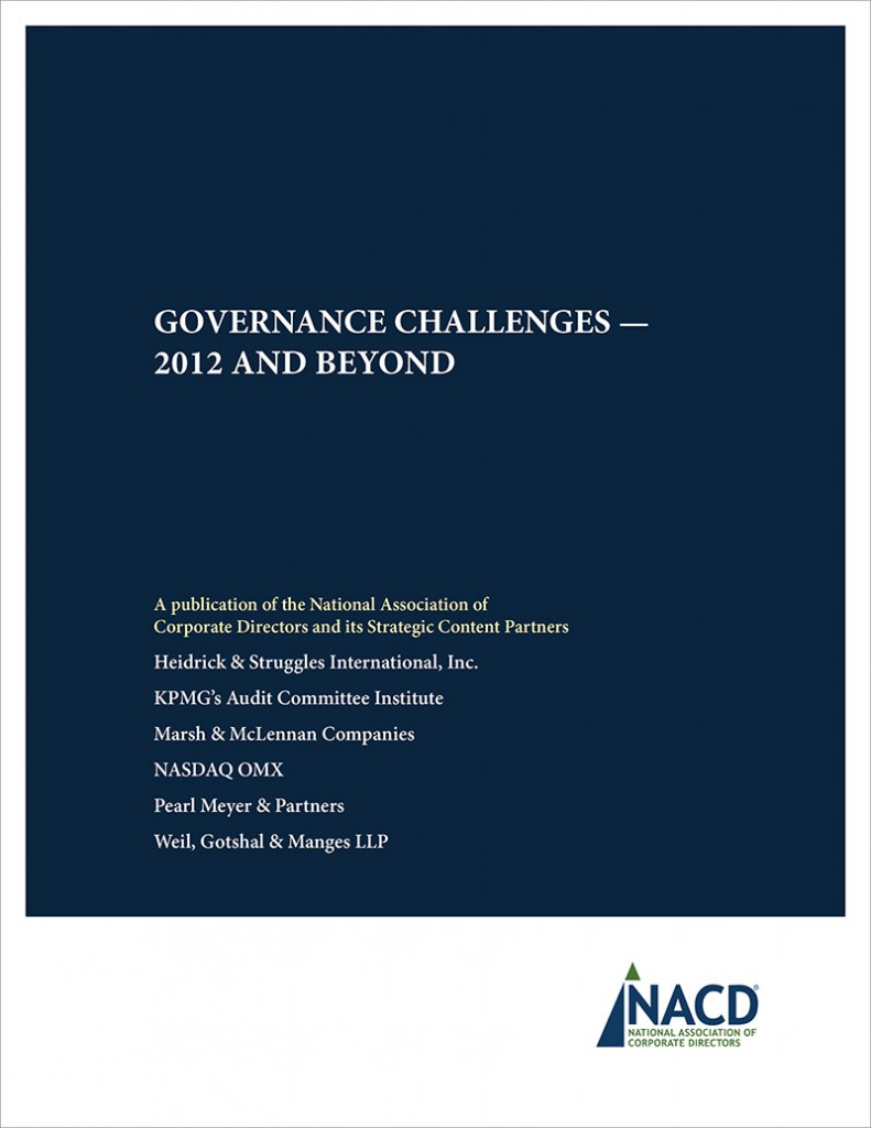 Corporate Governance Challenges