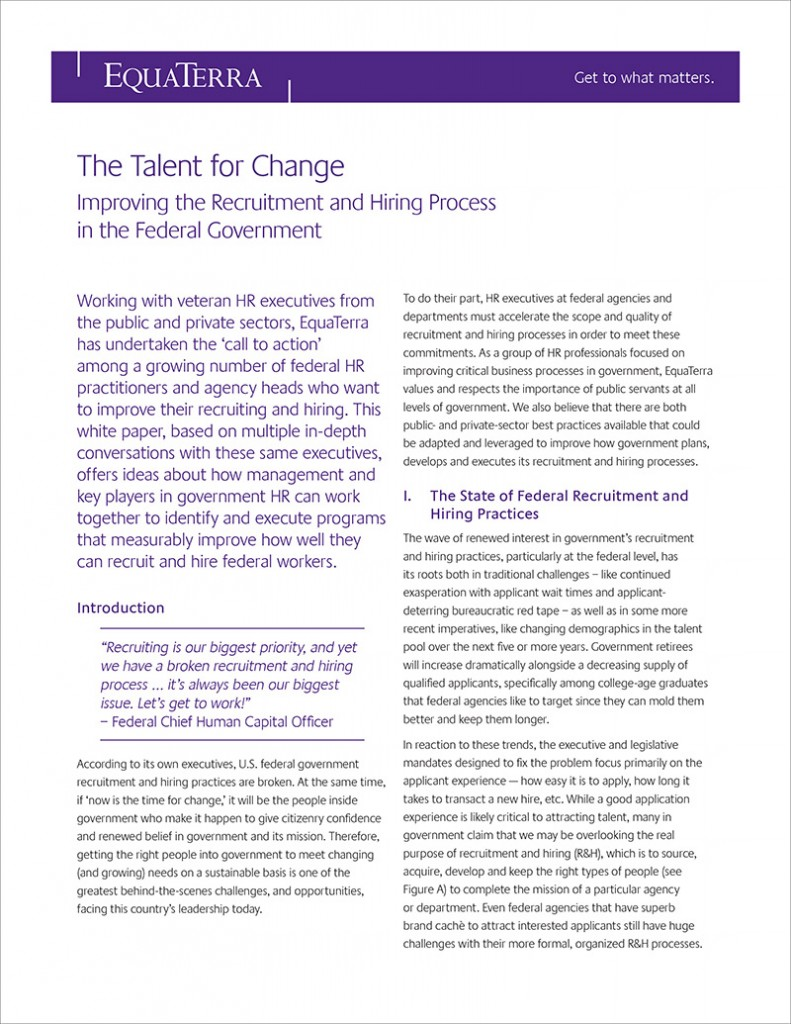 The Talent for Change